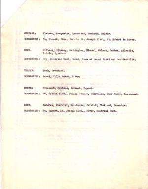 Limites des secteurs en 1948