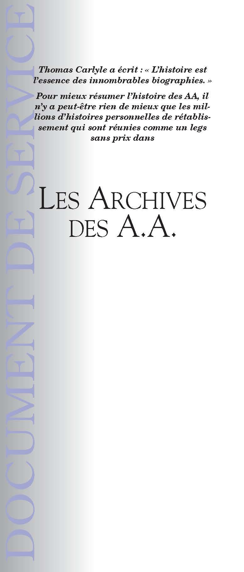 Les archives des AA ff-47 2011